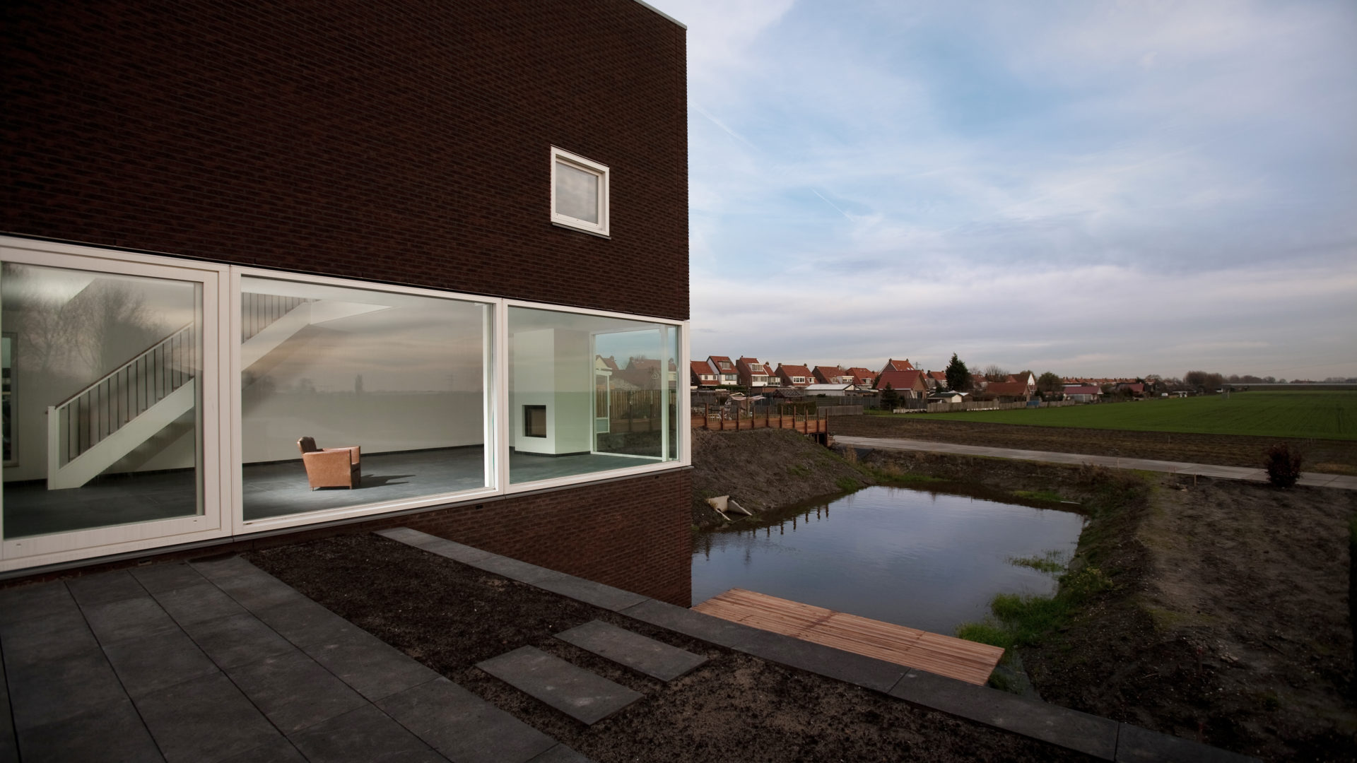 Exterieur van het moderne woonhuis in Beinsdorp