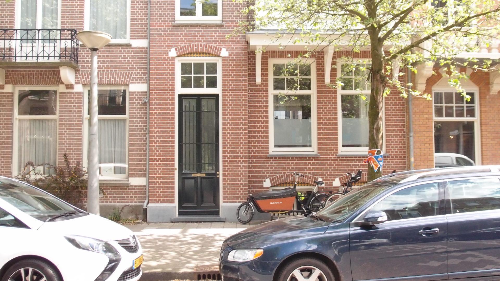 voorgevel voor de verbouwing van het woonhuis aan de hogeweg in amsterdam